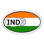 India Flag Oval Sticker