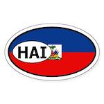 Haiti Flag Oval Sticker
