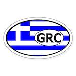 Greece Flag Oval Sticker