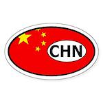China Flag Oval Sticker