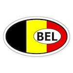 Belgium Flag Oval Sticker