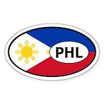 Phillipines flag Oval Sticker