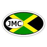 Jamaica Flag Oval Sticker