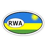 Rwanda Flag Oval Sticker
