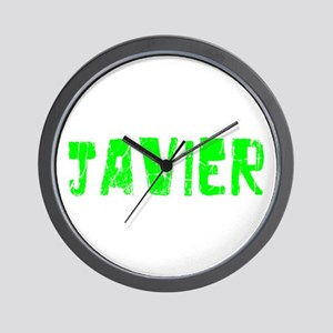 Javier Faded (Green) Wall Clock