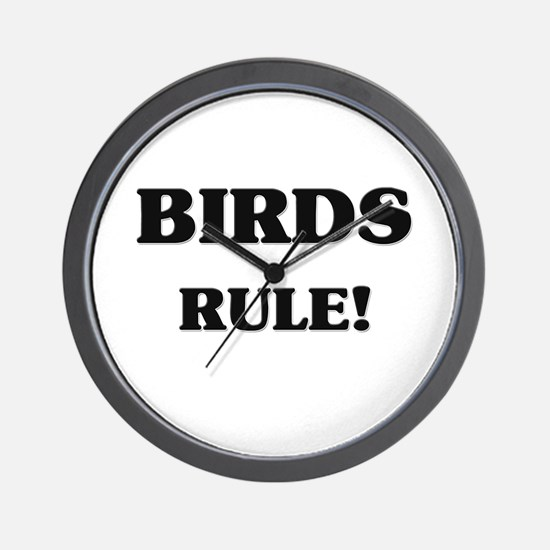 Birds Rule Wall Clock