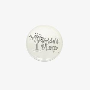 White C Martini Bride's Mom Mini Button