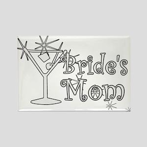 White C Martini Bride's Mom Rectangle Magnet