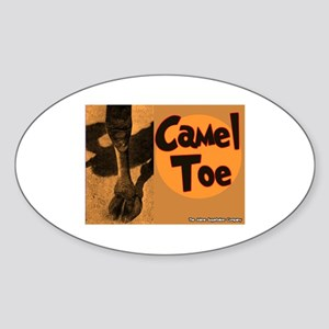 Camel Toe Oval Sticker