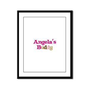 Angela's Buddy Framed Panel Print