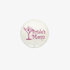 Pink C Martini Bride's Mom Mini Button