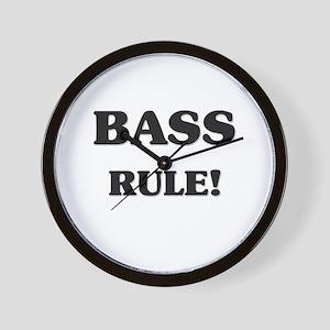 Bass Rule Wall Clock