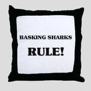 Basking Sharks Rule Throw Pillow