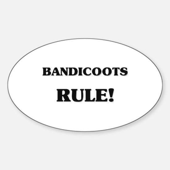 Bandicoots Rule Oval Decal