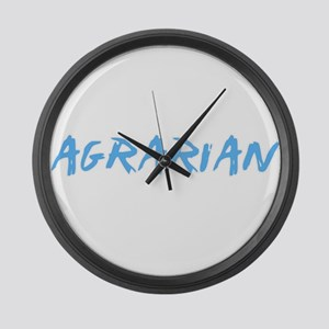 Agrarian Profession Design Large Wall Clock
