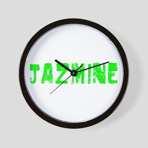 Jazmine Faded (Green) Wall Clock