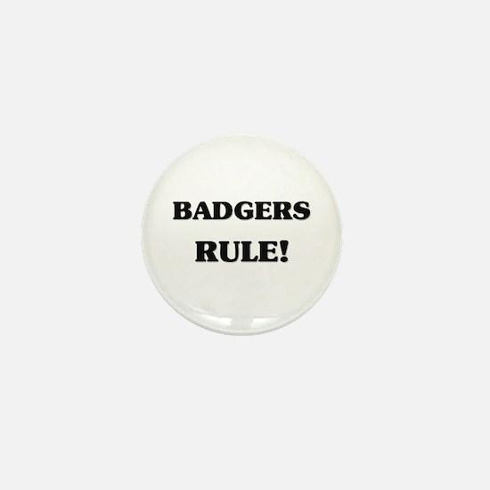 Badgers Rule Mini Button