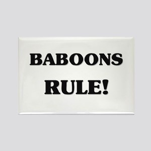 Baboons Rule Rectangle Magnet