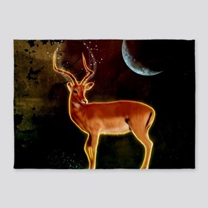 Wonderful antelope in the shine of the night 5'x7'