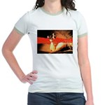 Pumps and Pearls Jr. Ringer T-Shirt