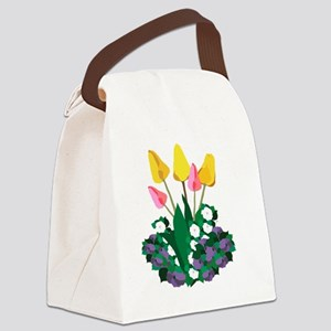 Spring Flowers Canvas Lunch Bag