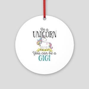 Unicorn GIGI Round Ornament