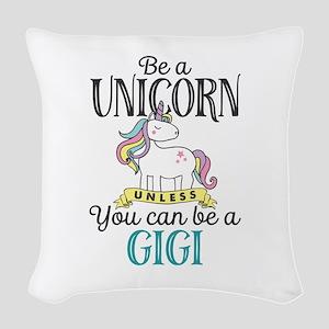 Unicorn GIGI Woven Throw Pillow