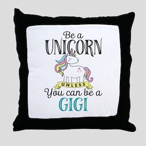 Unicorn GIGI Throw Pillow