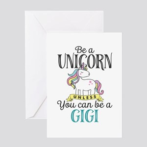 Unicorn GIGI Greeting Card