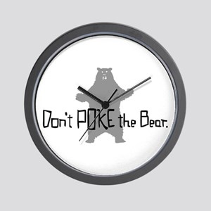 Don't Poke The Bear Wall Clock