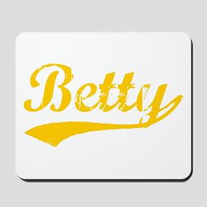 Vintage Betty (Orange) Mousepad