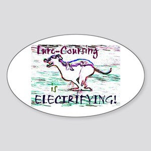 Lure Coursing Oval Sticker