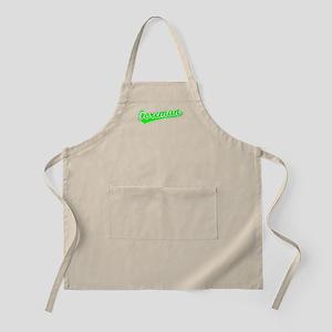 Retro Foreman (Green) BBQ Apron