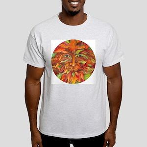 Autumn Halloween Green Man Adult Ash Grey T-Shirt