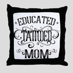 Tattooed Mom Throw Pillow