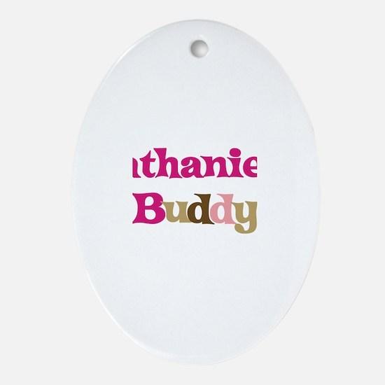 Nathaniel's Buddy Oval Ornament