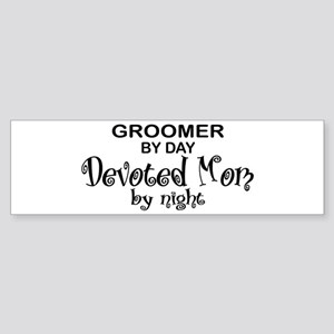 Groomer Devoted Mom Bumper Sticker