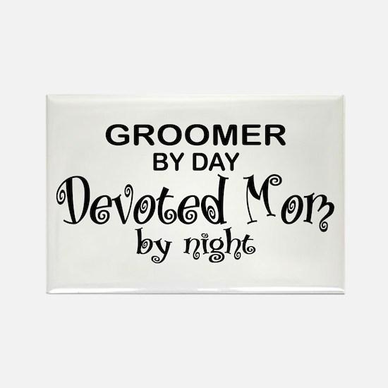 Groomer Devoted Mom Rectangle Magnet