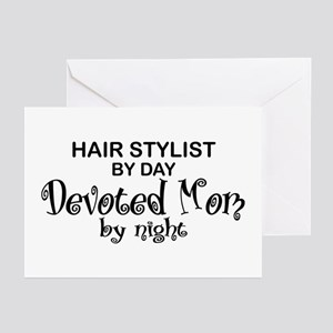 Hair Stylist Devoted Mom Greeting Cards (Pk of 10)