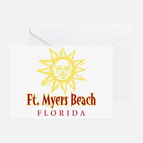 Ft. Myers Beach Sun - Greeting Card