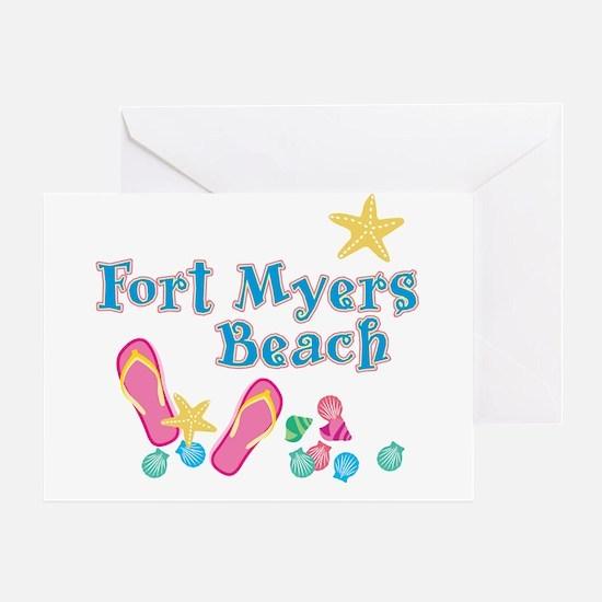 Ft. Myers Beach Flip Flops - Greeting Card
