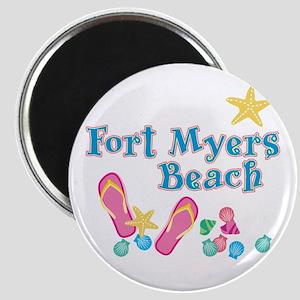 Ft. Myers Beach Flip Flops - Magnet