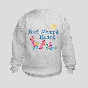 Ft. Myers Beach Flip Flops - Kids Sweatshirt
