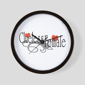 Clueless Female Wall Clock