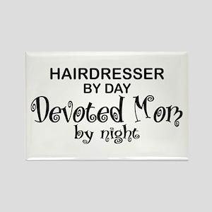 Hairdresser Devoted Mom Rectangle Magnet