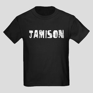 Jamison Faded (Silver) Kids Dark T-Shirt