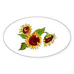 Sunflower Garden Sticker (Oval 10 pk)