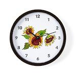 Sunflower Garden Wall Clock