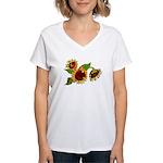 Sunflower Garden Women's V-Neck T-Shirt