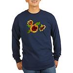 Sunflower Garden Long Sleeve Dark T-Shirt